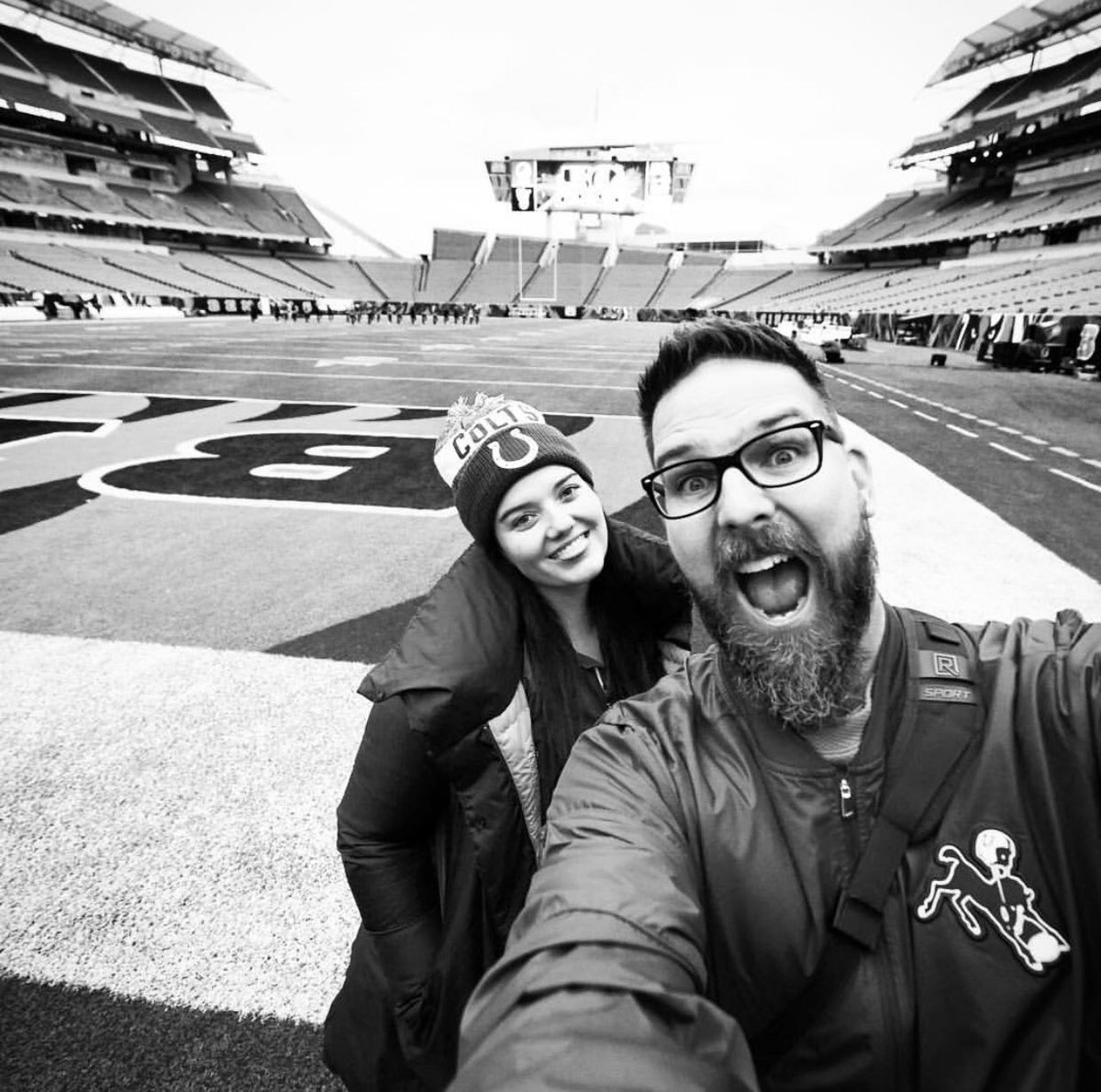 gotta give a shoutout to @mattbowenphoto on #WorldPhotographyDay. 📸 i appreciate you, your #Colts photos and our stadium selfies! 💙