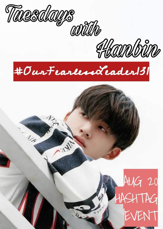 [ Tuesdays with Hanbin ] #OurFearlessLeader131 I dont think theres another chance, so Im betting with my everything. - Hanbin August 19th & 20th, 2019 @ikon_shxxbi | @YG_iKONIC