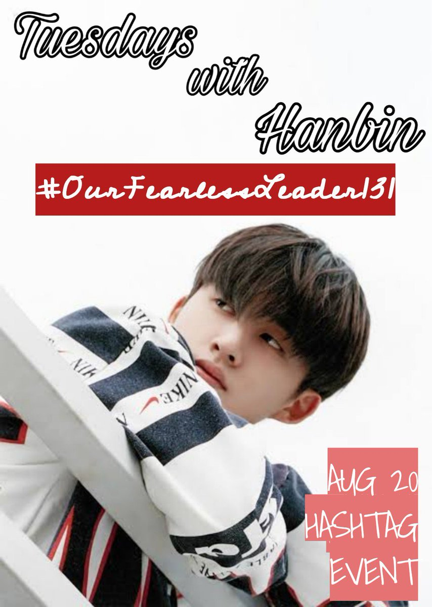 "[ Tuesdays with Hanbin ] #OurFearlessLeader131  ""I don't think there's another chance, so I'm betting with my everything.""  - Hanbin  August 20th, 2019 @ikon_shxxbi 