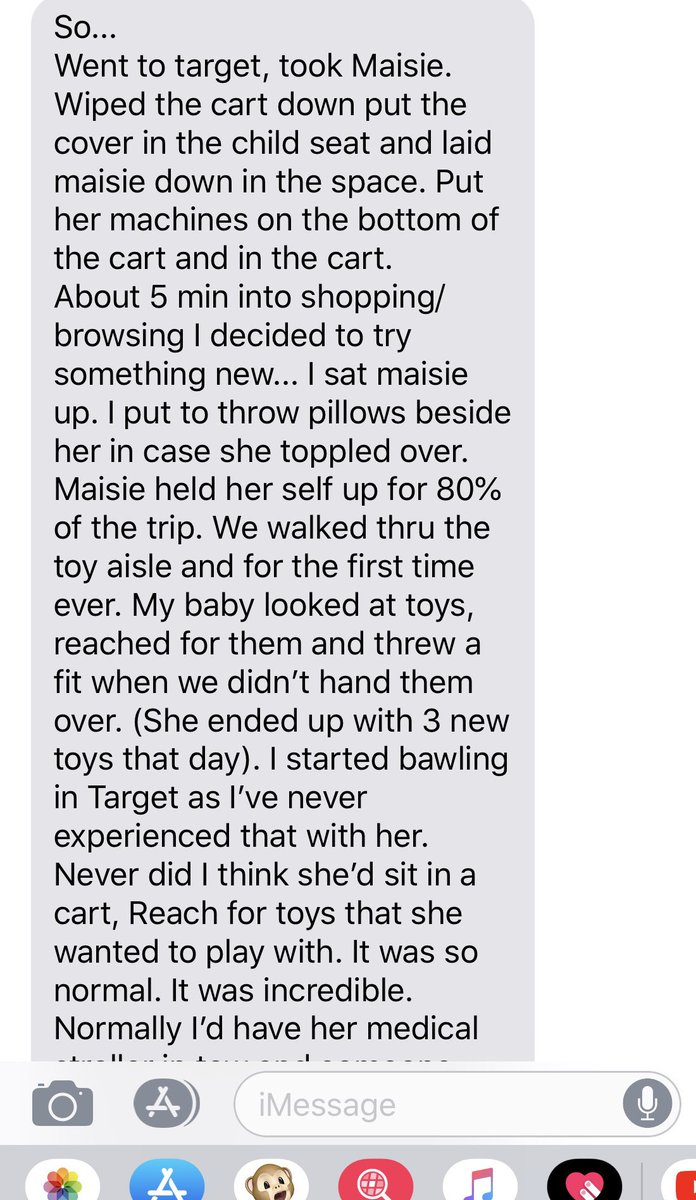 Read these texts from the mom of baby Maisie who we helped get $2.1 million Life Saving drug. Beautiful 😭