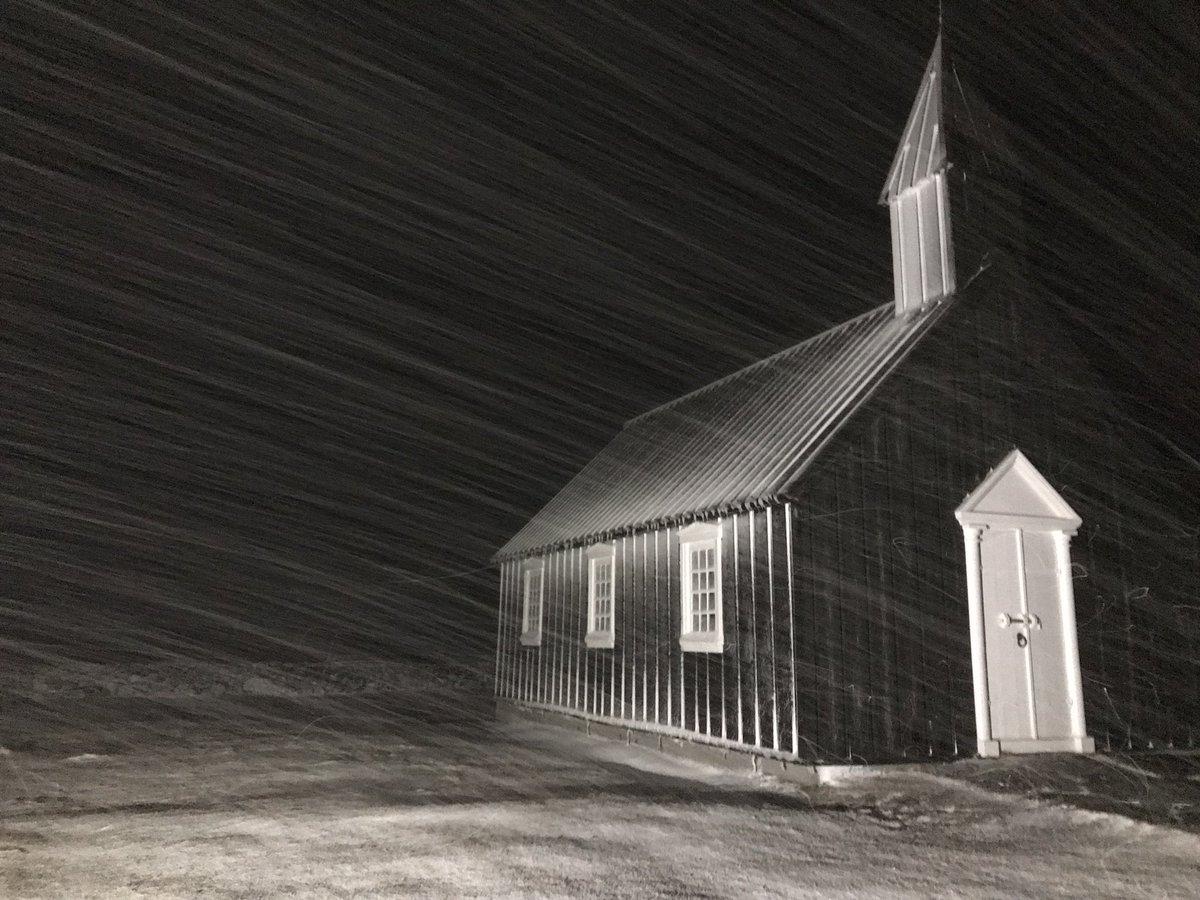 @MeredithFrost Black Church of Budir, Iceland #WorldPhotographyDay