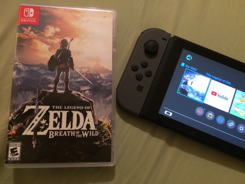 My little brother just bought me Breath of the Wild as a gift!!! Yoooo! 🤩