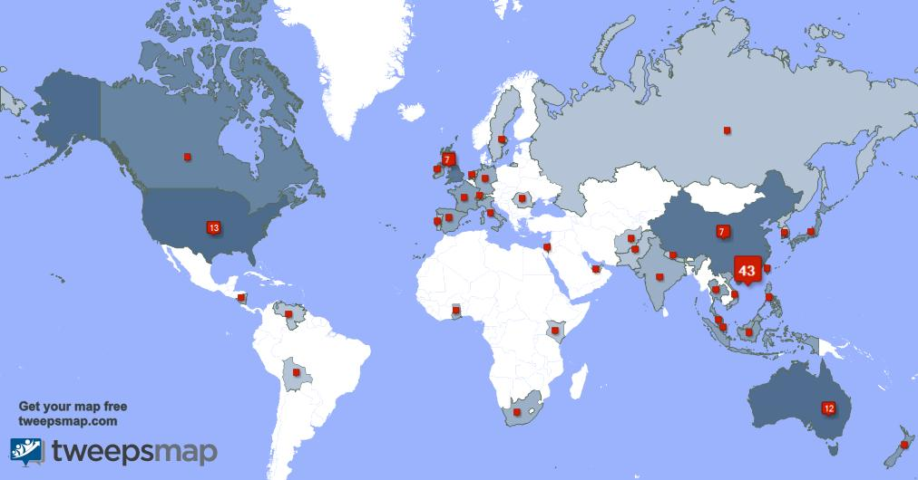 Special thank you to my 3 new followers from UK., and more last week. tweepsmap.com/!b3108