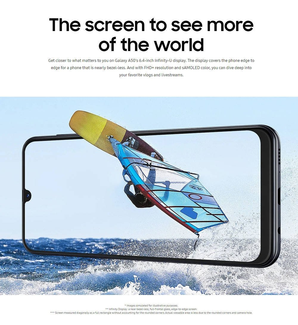 Samsung A50 has wide screen to see more, Triple camera for your memories, large storage and a RAM like no other, Goes for 25,889ksh , Use ShikoJFan as the voucher code and get 300sh discount #iShopJumiaKE<br>http://pic.twitter.com/DyMreFmCQD