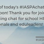Image for the Tweet beginning: Archive of today's #IASPAchat will