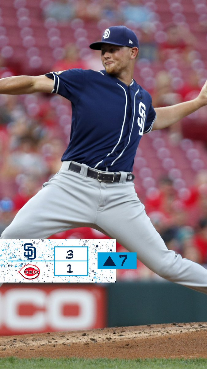 The Padres are on top in Cincinnati! They lead 3-1 heading to the top of the 7th.