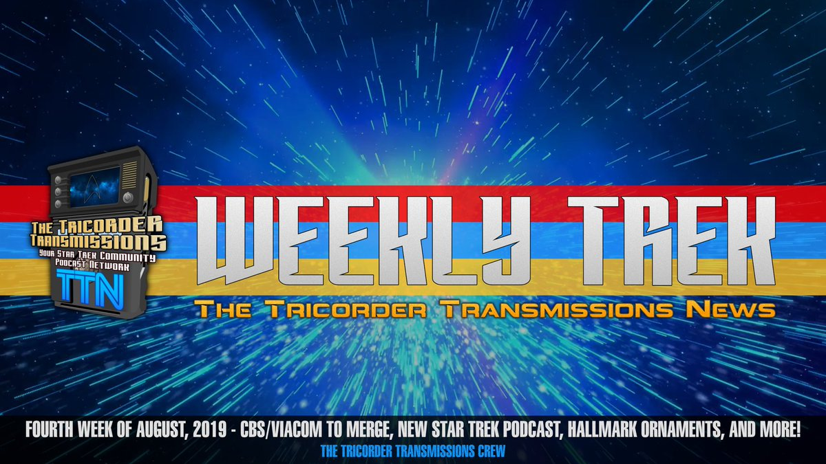 🚨🚨🚨 NEW EPISODE!! @TrekCaptions joins me to discuss the announcement that CBS and Viacom will be (re)merging, a new official #StarTrek podcast, Hallmark's 2020 Star Trek ornaments, and Anthony Rapp's appearance in Star Trek Online.  http://www.thetricordertransmissions.com/episode.php?ep=WT066 …