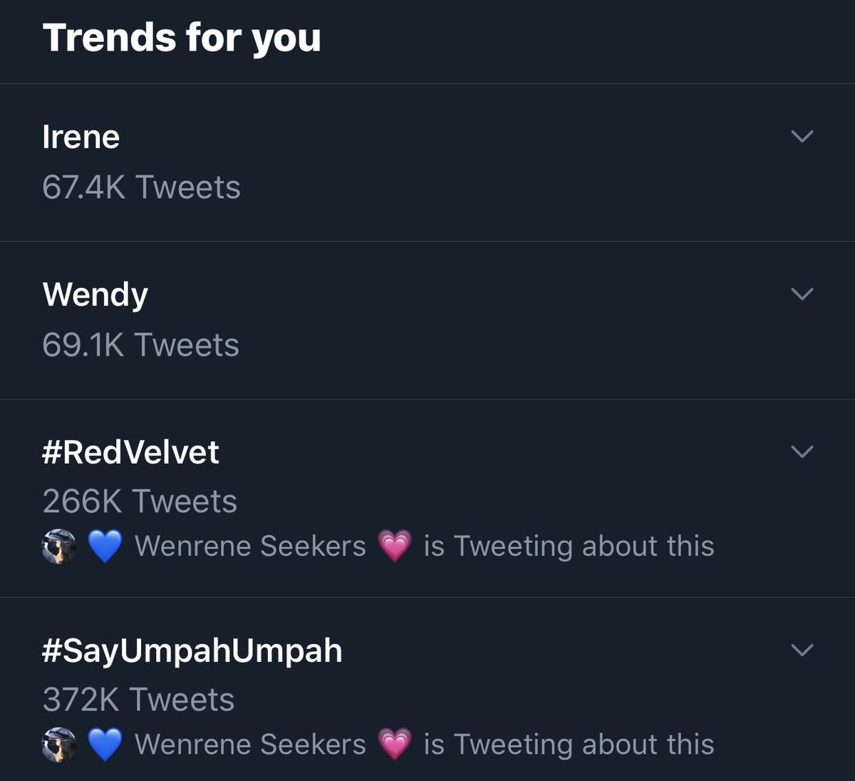 Trending list got even better  #WenRene <br>http://pic.twitter.com/qUByYgTZmD