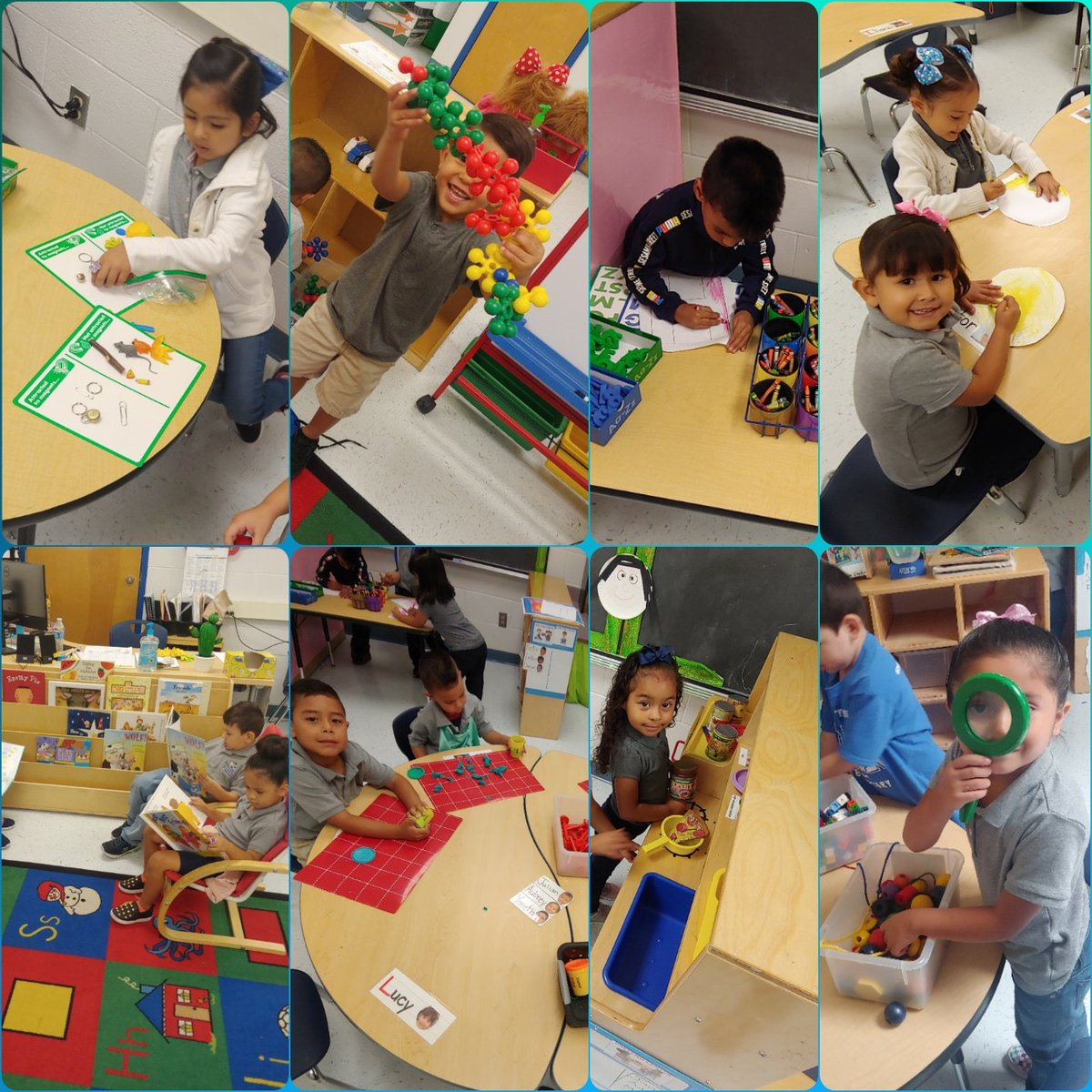 Our Pre-K students love showing their creativity during centers!  @RobertRRojas_ES  @JMarquez_RES#RobertRojasElementary<br>http://pic.twitter.com/PYCub3Y310