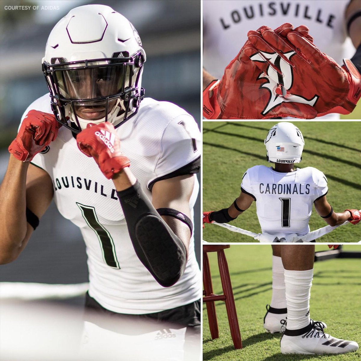 From the boxing ring  the football field ...  @UofLFootball's new adidas alternate uniforms are taking inspiration from Louisville native, Muhammad Ali  <br>http://pic.twitter.com/KJZs9tVlde