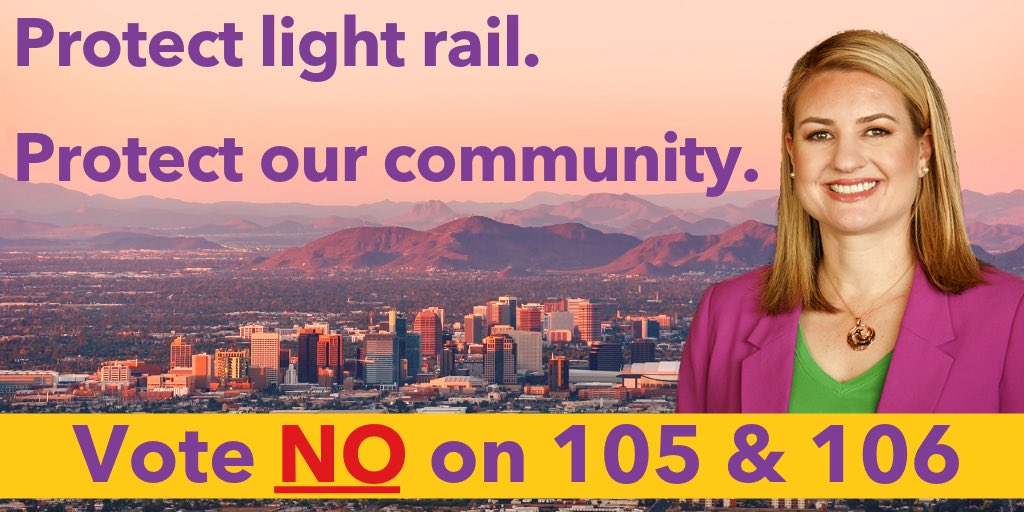 📩 Hey, Phoenix! You have until Wednesday, August 21 to mail back your early ballot. If youre someone who votes in person, or if you have any questions, visit InvestinPHX.org/VOTE. Protect light rail. Protect our community. ❌ Vote @No105No106