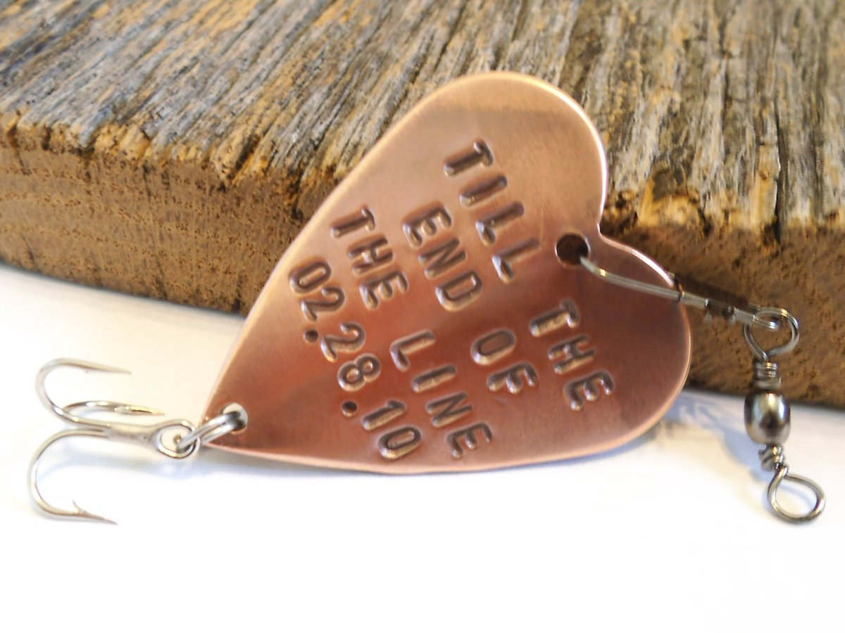Personalized Anniversary Gift for Husband Handstamped Fishing Lure Men Birthday Boyfriend Wedding Gift Till the End of the Line Infinity Us http://tuppu.net/80cb0e18 #CandTCustomLures #Shopify #Infinity_for_us