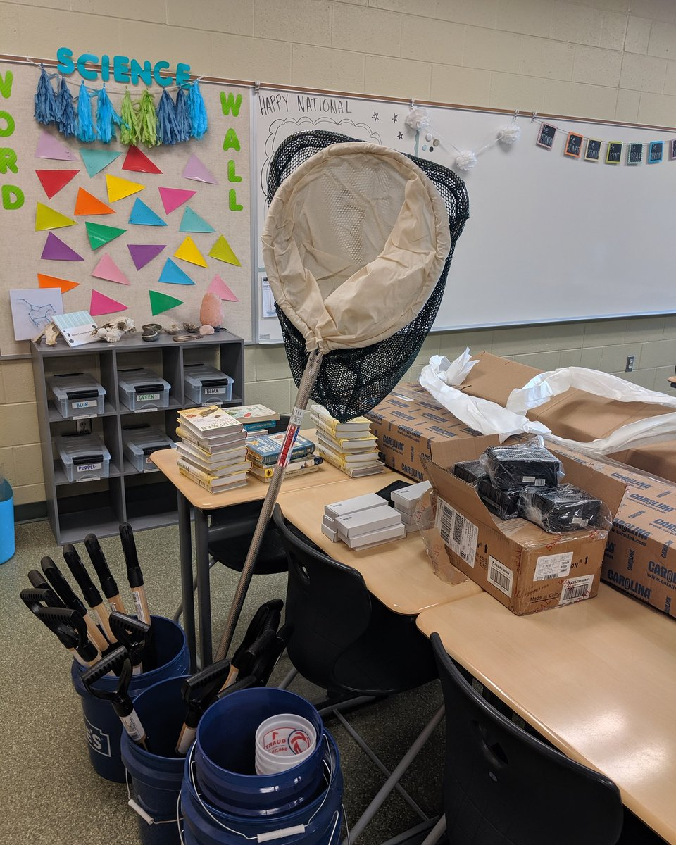 Stocking up on supplies for our environmental program at CMS! Its like Christmas morning😍 @CMSbroncos @CoopsScience #environmentalscience #scienceteacher #middleschool