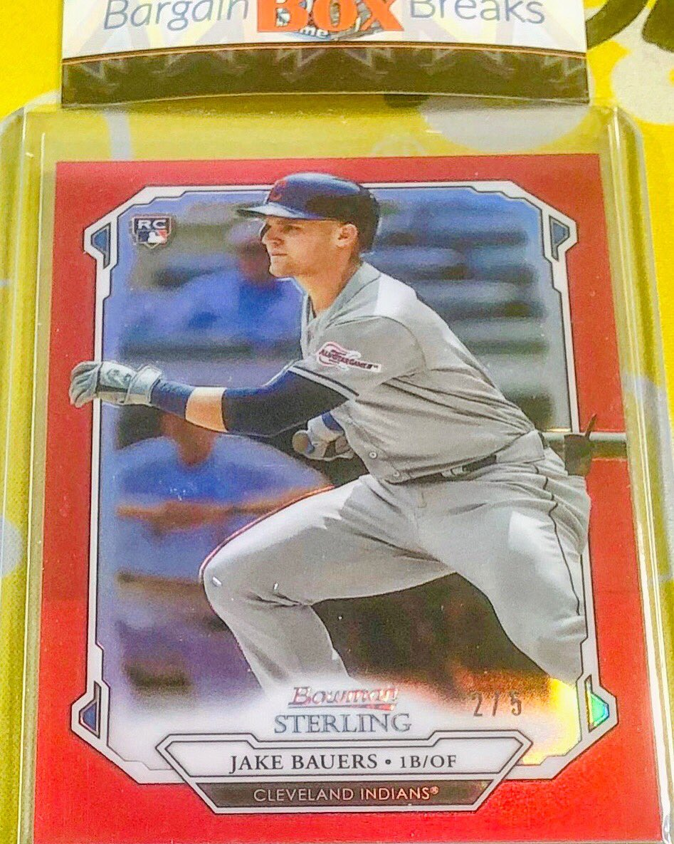 Jake Bauers Bowman Sterling Red Refractor /5 #bargainboxbreaks #bowmansterling #bowman #sterling #bowmansterlingbaseball #baseball  #sportscards #tradingcards #boxbreaks #cardcollector #baseballbreaks #breaker #jakebauers #redrefractor #clevlandindians @jakebauerspic.twitter.com/0rQRhx49zu