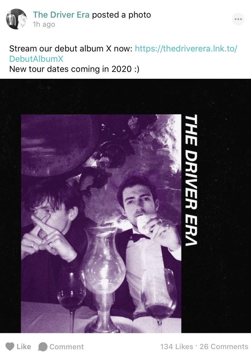The Driver Era tour 2020? Yes please