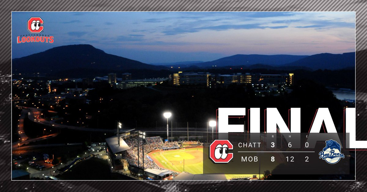 FINAL: #Lookouts 3 Baybears 8 Let's be 👀 fans tomorrow ➡️☀️