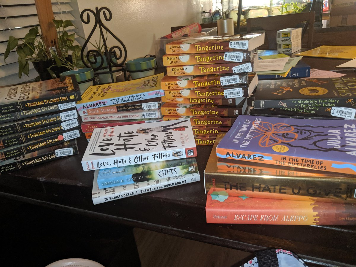 My many blessings from friends and family thanks to the #clearthelist movement. Students @endeavoreagles in @ChannelviewISD will feel the love as we explore social justice and cultural diversity through book clubs this year. #NCTEvillage   https://www. amazon.com/hz/wishlist/ls /2CJJOU324Z3FA?ref_=wl_share  … <br>http://pic.twitter.com/z7IQn2xyLm