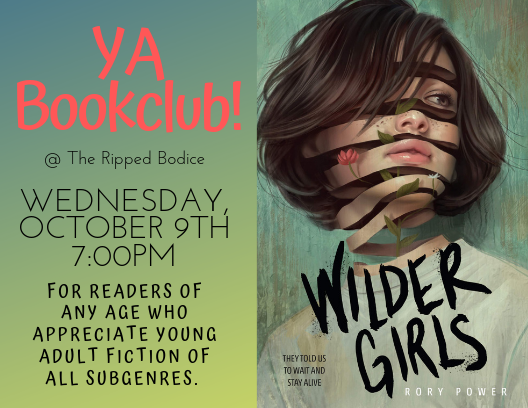 The next YA bookclub pick is Wilder Girls by Rory Power Its been eighteen months since the Raxter School for Girls was put under quarantine. Since the Tox hit and pulled Hettys life out from under her... Wednesday Oct. 9th 7pm. Order the book: therippedbodicela.com/book/978133830…