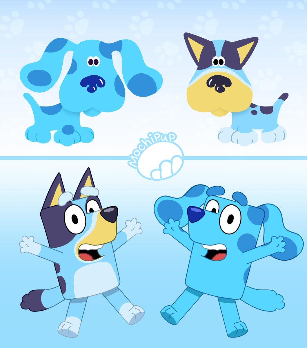 It's Bluey's Clues! #Bluey #BluesClues I just had to. <br>http://pic.twitter.com/rN28XRbFIt