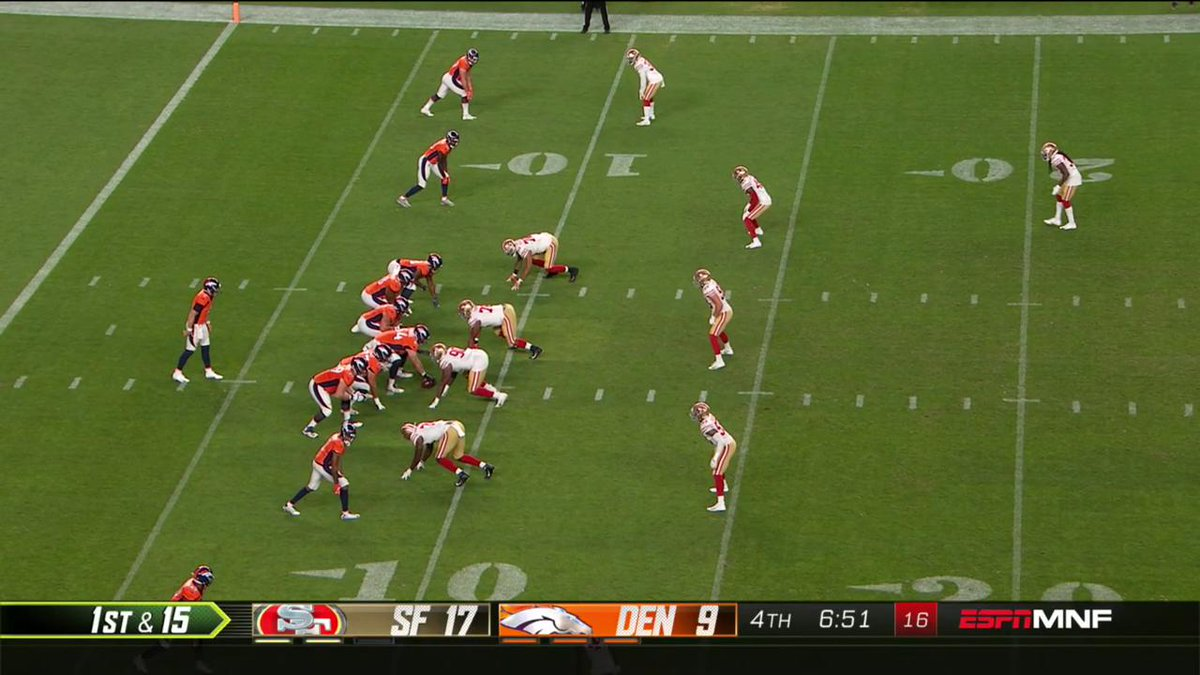 Tipped ball, picked ball. #SFvsDEN
