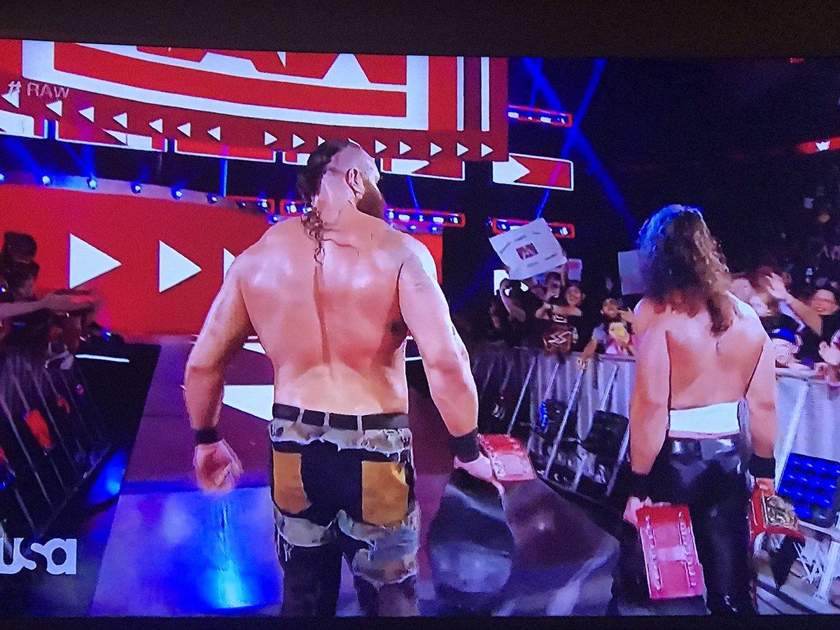 Man, Nicholas grew up a lot since WrestleMania 34. Congrats @BraunStrowman and Nicholas! #WWE #RAW<br>http://pic.twitter.com/4P777uQOli
