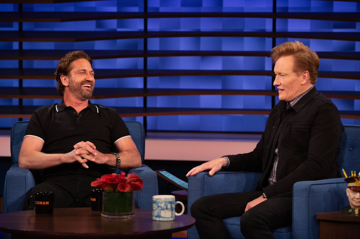 For all things Greenland, kilts, chewing rocks and being naked with Nick Nolte, watch @ConanOBrien tonight. #AngelHasFallen @TeamCoco