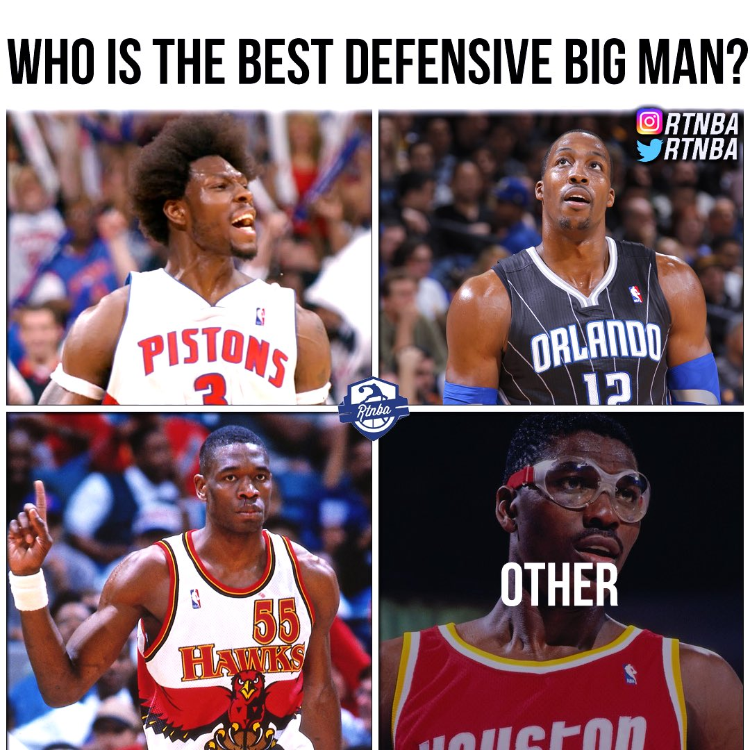 Best defensive big man?🤔 ➖➖➖ Quote tweet with your response