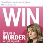 Image for the Tweet beginning: WIN a #MyLifeIsMurder script signed