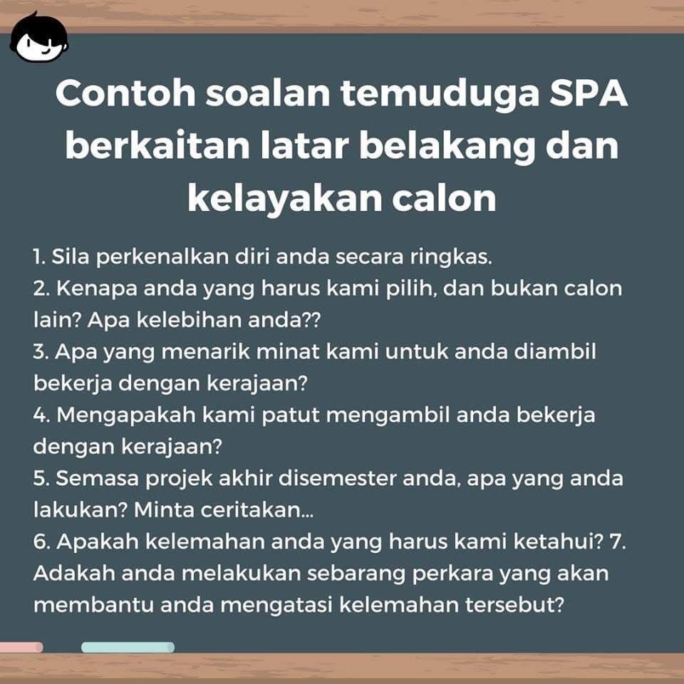 Resume Kreatif On Twitter Soalan Bocor Temuduga Spa Kredit Maukerja Malaysia
