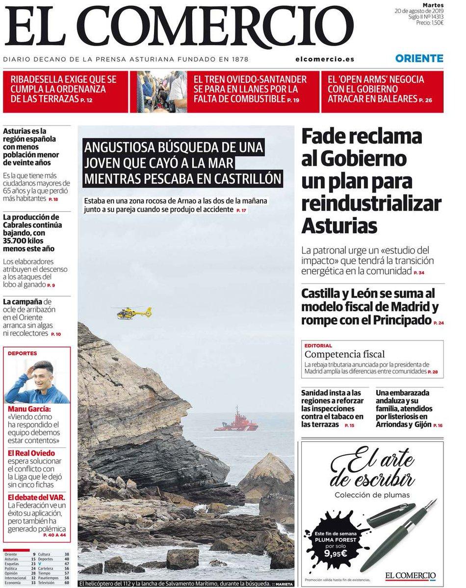 ট ইট র El Comercio Consulta Las Portadas De El Comercio Y La Voz De Avilés De Este Martes 20 De Agosto Portadaselcomercio Más Información Https T Co Smtbjxnge0 Https T Co 06kwr9y4g5
