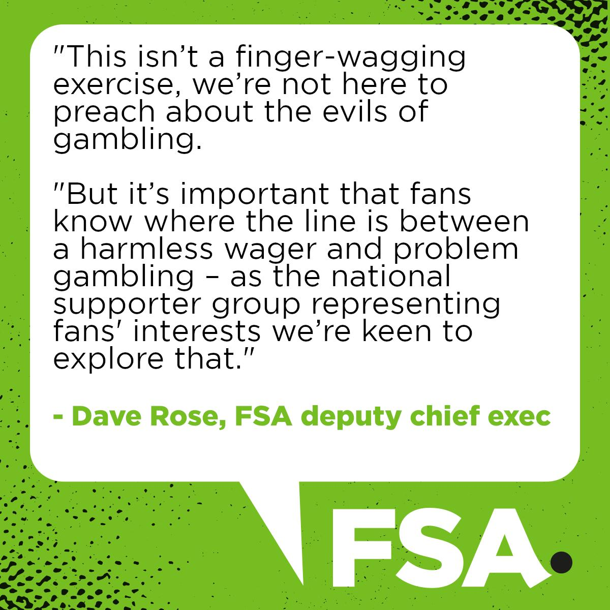 Weve launched a new survey about the role of gambling at the match - it only takes two minutes and wed appreciated your input. Take part here: surveymonkey.co.uk/r/fsa-gambling