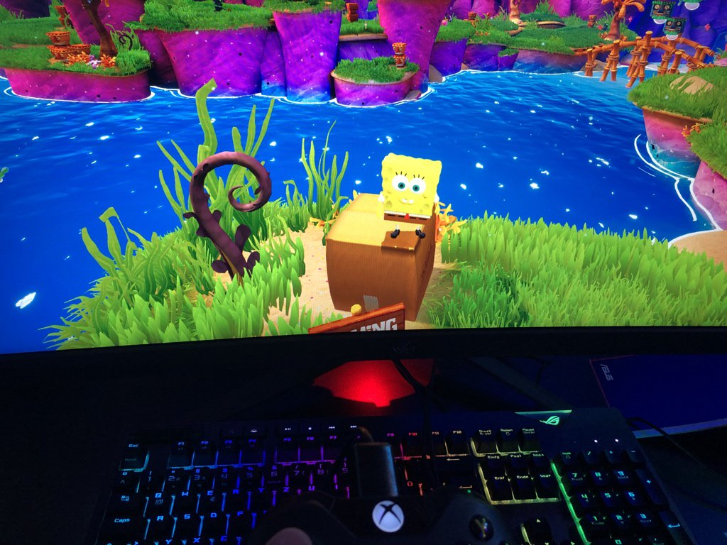 What did I just play?! #Spongebob #GAMESCOM2019 <br>http://pic.twitter.com/L9MD6VXiAy