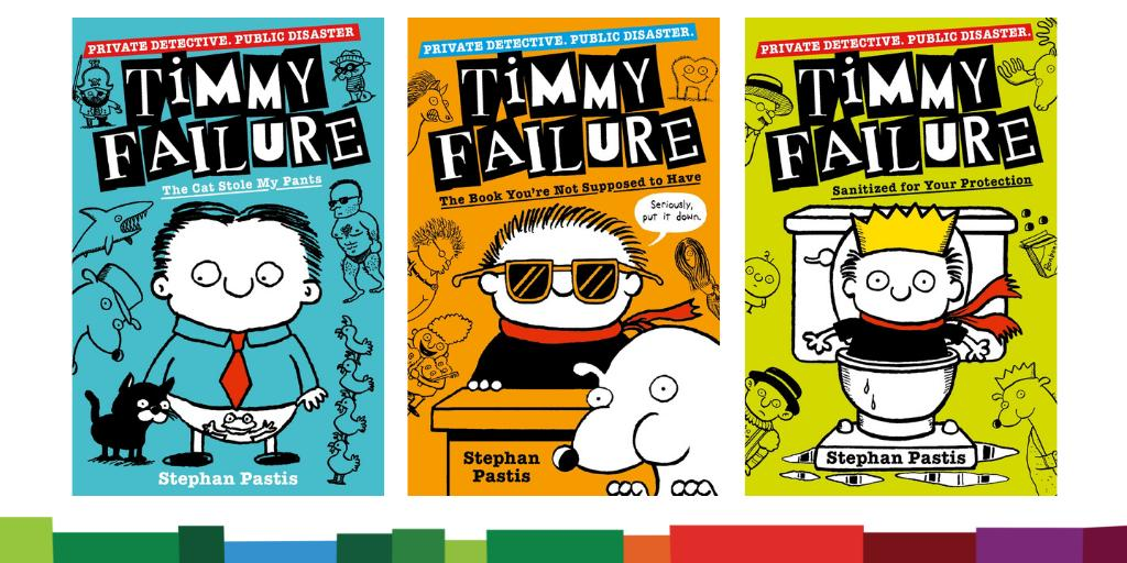 *COVER REVEAL ALERT!* Check out the brand new look for @stephanpastis bestselling #TimmyFailure books. These 3 hilarious reads publish on 5th Sept & we think they look just FAB! @WalkerBooksUK @BookSuperhero2 @Readitdaddy @_Reading_Rocks_ @munchkinmeggie @faeryartemis