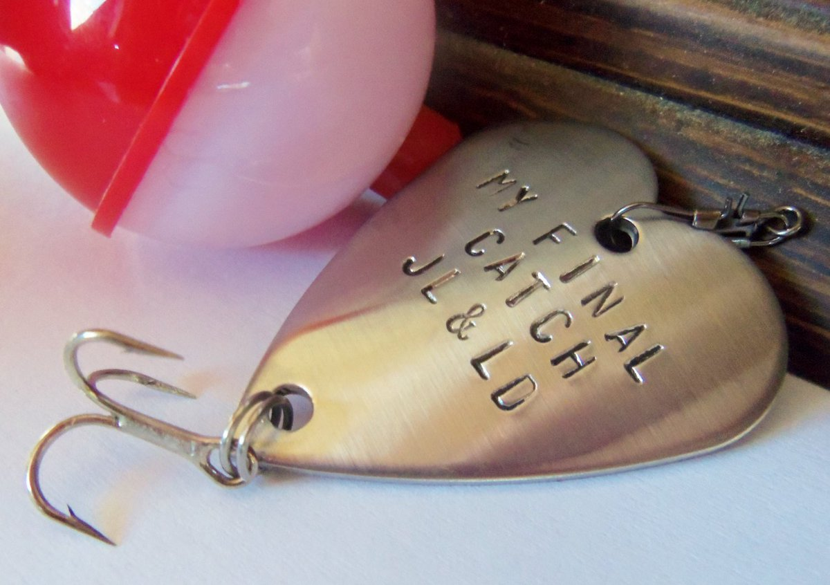Christmas Fishing Gift for Husband Valentines Day Boyfriend Present for Birthday Mens Accessories for Him My Final Catch Fishing Lure Wife http://tuppu.net/bd00a476 #CandTCustomLures #Shopify #FishingGift