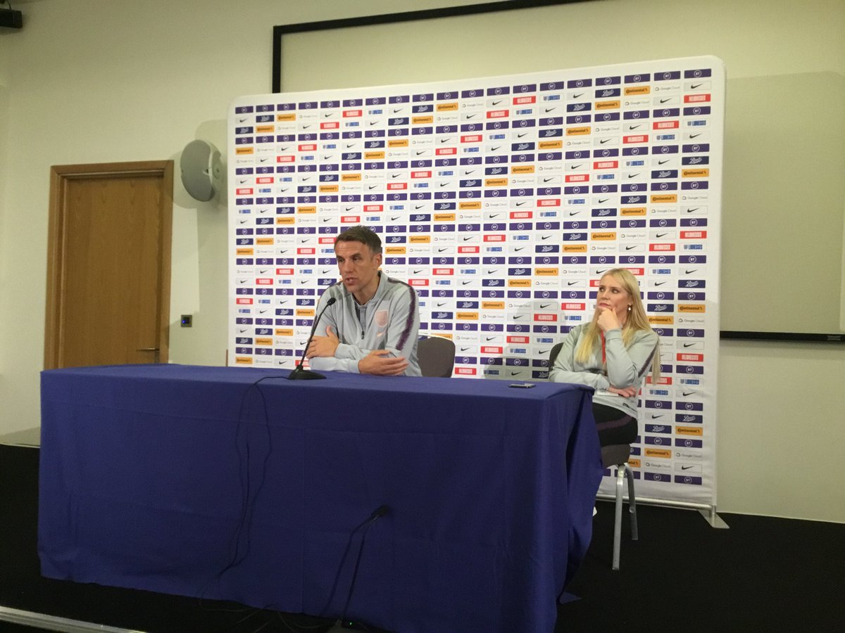 Phil says a message about Women's Football, would be achieved if they could fill Wembley, 80,000 for @Lionesses v Germany