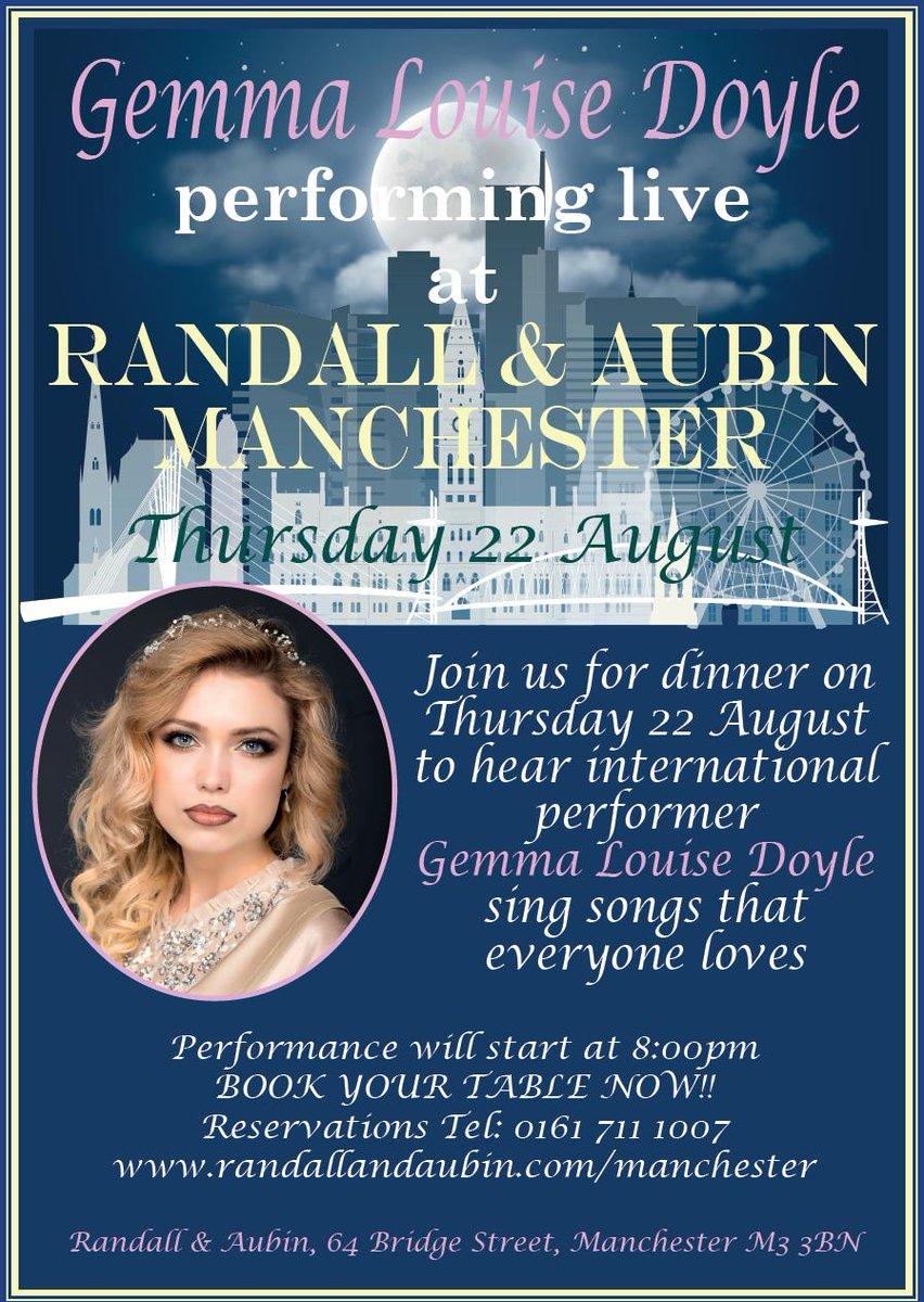 See @GemmaLDoyle live: Book your table @randallaubinMCR to kick off the Bank Hol via randallandaubin.com/manchester/ope… @canalstmancs @UnlockMcr