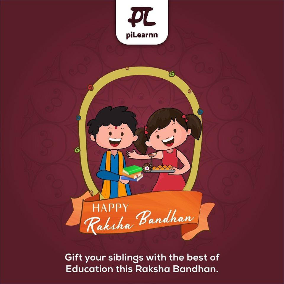 Let's celebrate the beautiful bond that we share with our siblings.Happy Raksha Bandhan!#RakshaBandhan #Rakhi #Love #Brother #Sister #RakshaBandhanSpecial #PiLearnn #elearningplatform #elearning #education