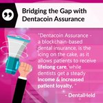 "Image for the Tweet beginning: ""Dentacoin Assurance - a blockchain-based"