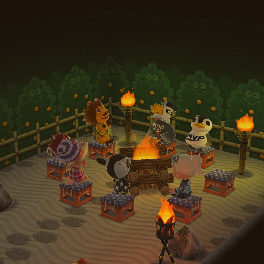 ファイヤー キャンプ あつ 森