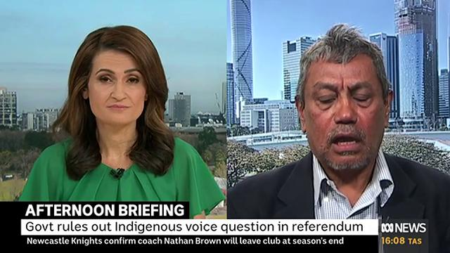 """""""I dont know what game the govt is playing. We dont think [Constitutional Recognition] is dead… This is a small hiccup… I'm not going to backflip on our efforts… I don't think I'll be working with Ken Wyatt [on legislating a Voice],"""" Richie Ahmat tells @PatsKarvelas"""