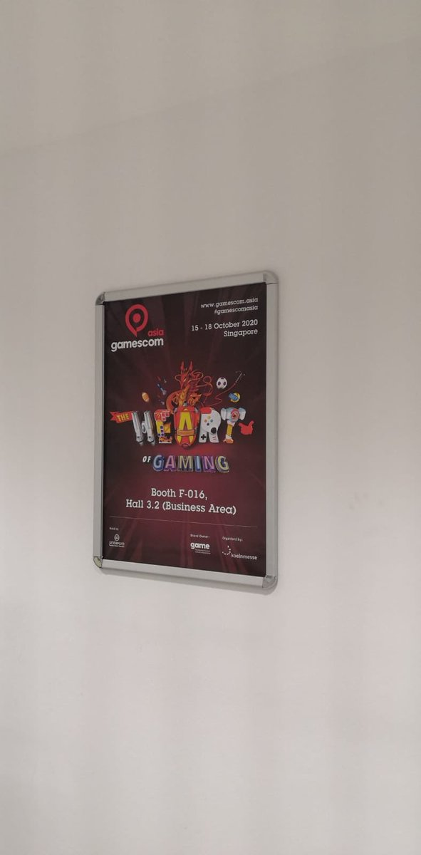 Spotted another one of our A1 posters. Guess where? Rhymes with Stress Room. #gamescom2019 https://t.co/PeBcW79C9X
