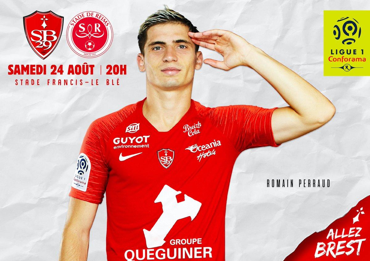 Affiche SB29 Stade de Reims Ligue 1 Ouest MEDIAS