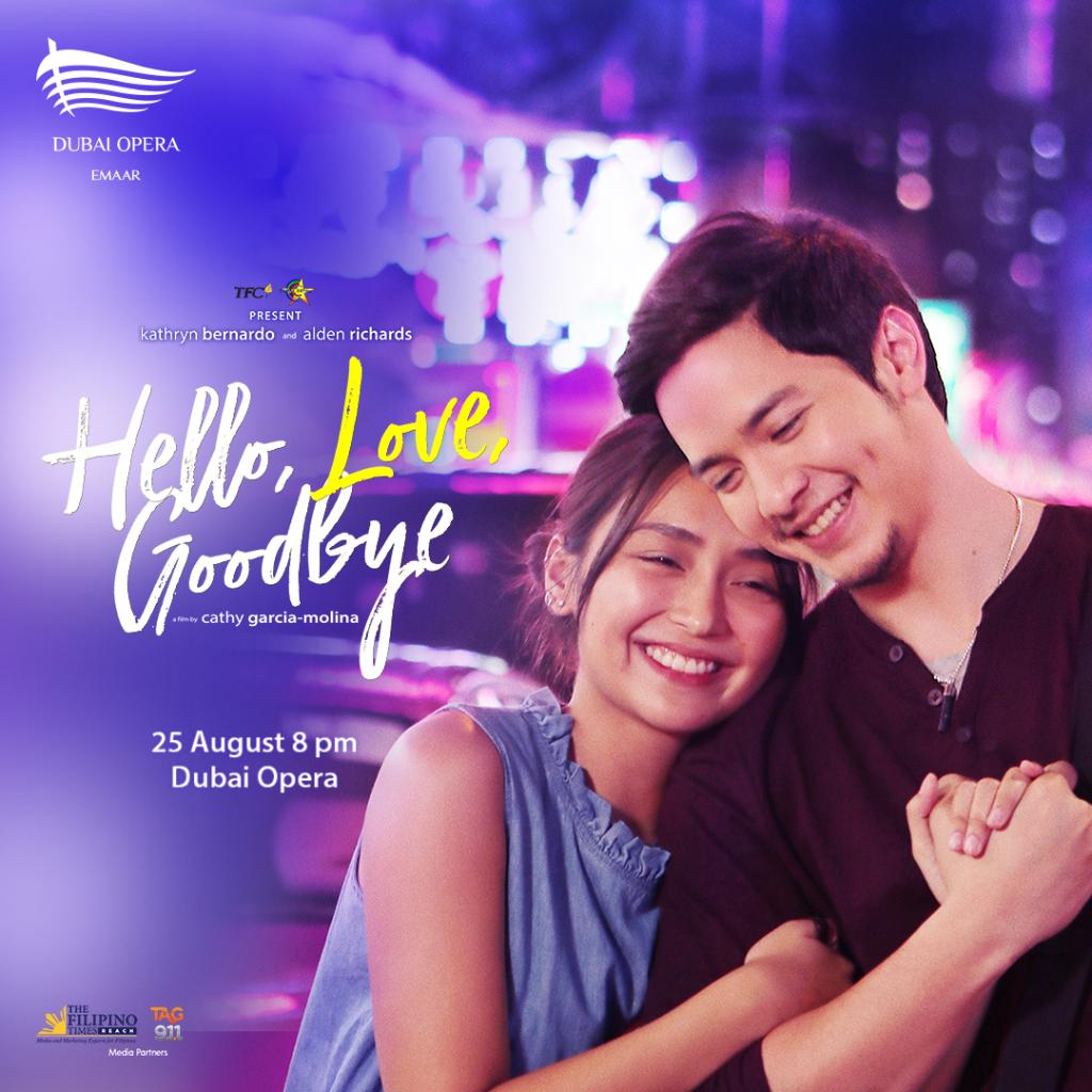 Discover the unshakeable love story of Ethan and Joy this August at the film screening of 'Hello, Love, Goodbye', at Dubai Opera showing on 25 August.  Secure your spot now!  http:// bit.ly/2ZgveWi    <br>http://pic.twitter.com/Osx1f0JVmY