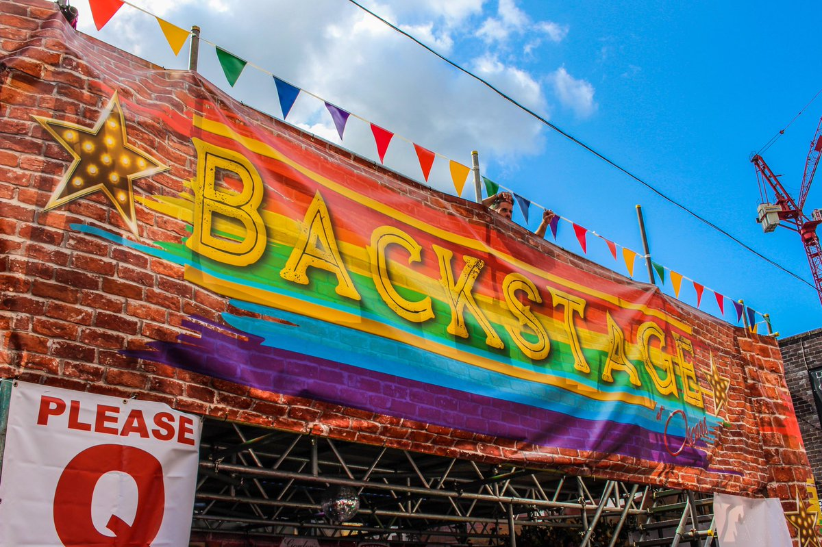 The Backstage Bar is back again this @ManchesterPride 🌈 We'll be serving a mix of beverages over the weekend, so do pop by! 🍻 #ManchesterPride #OscarsBarMCR