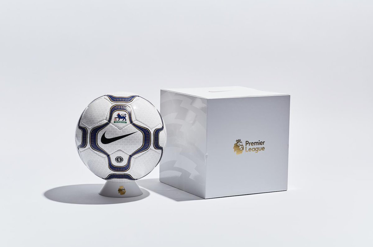 To celebrate the 20-year partnership, @nikefootball have launched a limited edition run of original Nike Geo Merlin Take a look at all the #PL Nike balls: http://preml.ge/Nike-balls