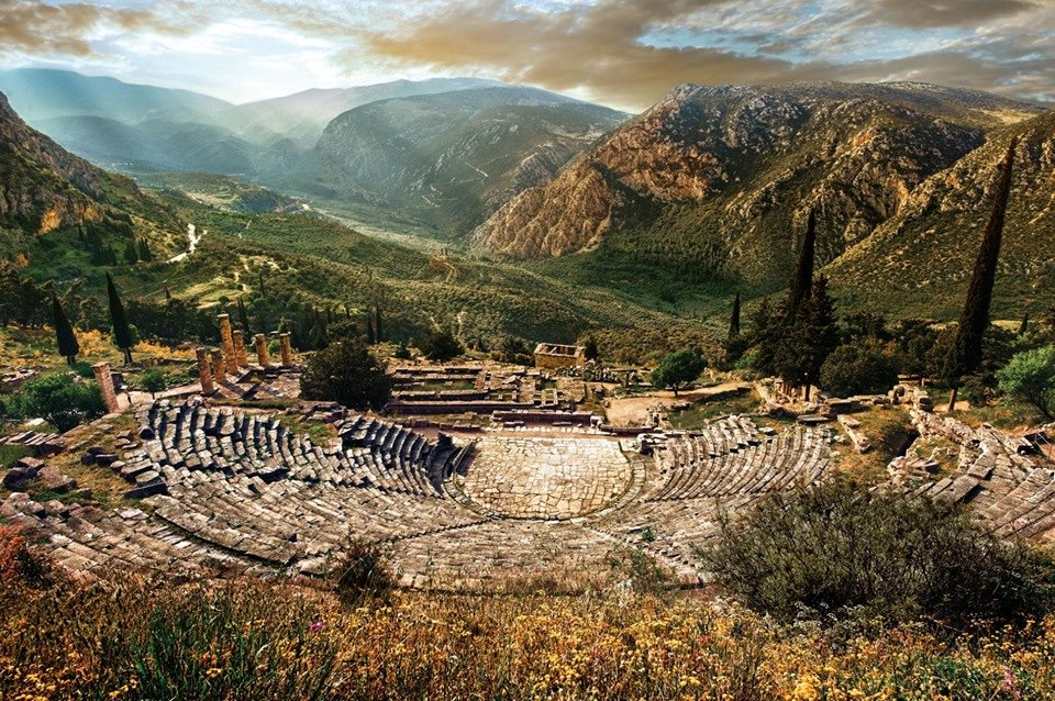 The ancient theatre in Delphi,Greece. <br>http://pic.twitter.com/dtwK9p0eHj