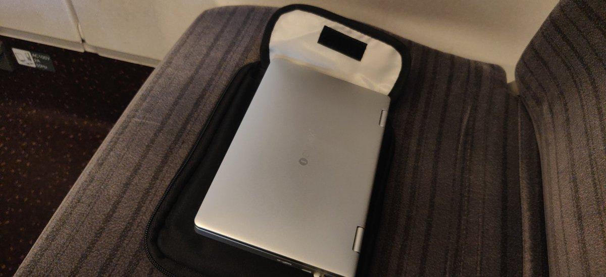 test ツイッターメディア - @one_netbook onemix3は新幹線でも最適な選択! サイズがちょうど良い! https://t.co/KUtVHPErCv