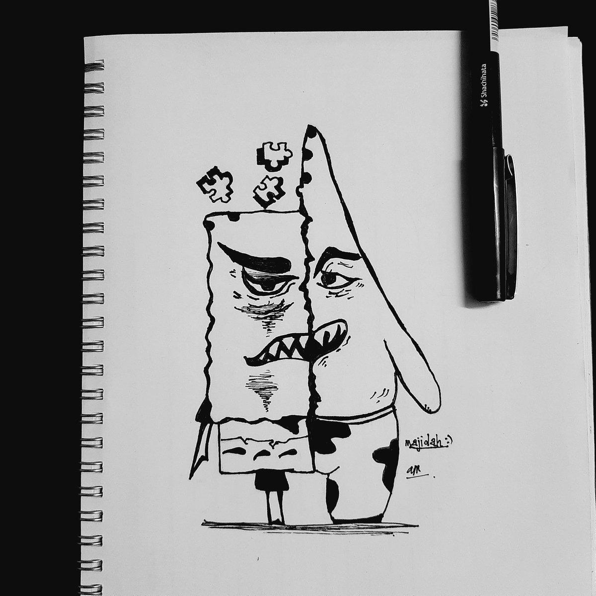 Spongebob ft patrick.  #sketchforfun<br>http://pic.twitter.com/Gn0KbZl3AM
