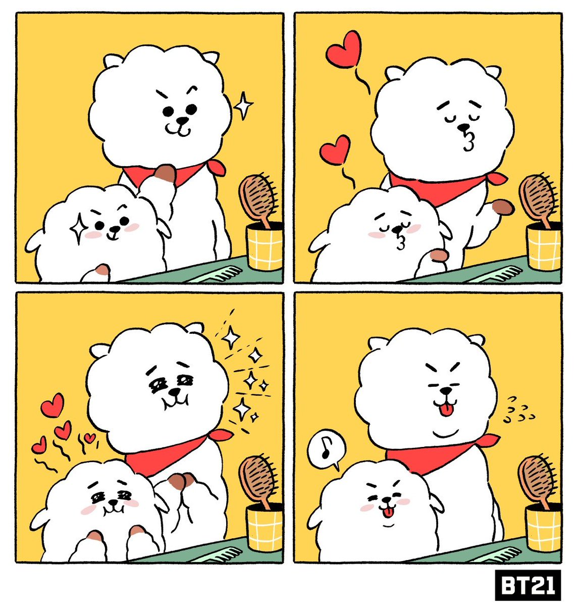 Two peas in a pod 😶😶 #CopyAndPaste #Before #GoingOut #Sibling #ChildhoodMemories #RJ #RK #BT21