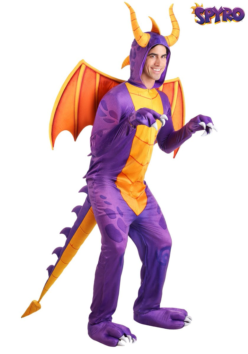An official upcoming adult-sized #SpyroTheDragon costume has been found on @funcostumes website, but isn't available yet. #Spyro  Source:  https://www. halloweencostumes.com/spyro-the-drag on-adult-costume-jumpsuit.html  … <br>http://pic.twitter.com/UJMnzuwFED